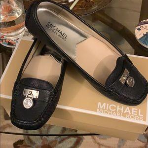 Michael Kors Hamilton Loafer - Black - Size 7.5